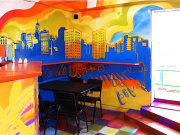 Роспись стен в баре Самолет г. Нижний Новгород