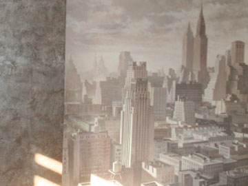 Роспись стен в офисе Н. Новгорода