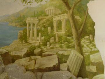 Рисунок на стенах в частной квартире